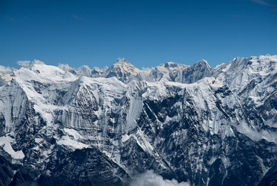 Manaslu and Himalaya from Dhaulagiri, Nepal