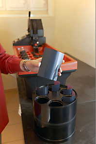 Loading of the negatives into the Jobo drum. Photo Daniele Gussago