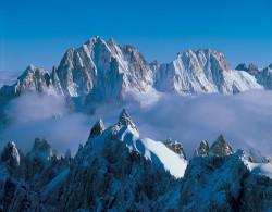 Aiguille du Plan, Aiguille Verte and Les Droites, Mont Blanc mountain chain, France