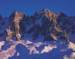 Aiguille du Plan and Aiguille de Blaitière, Mont Blanc mountain chain, France