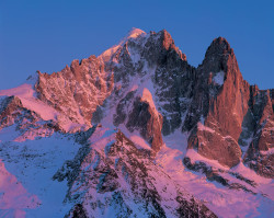 Aiguille Verte and Petit Dru, Mont Blanc mountain chain, France