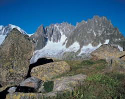 Envers des Aiguilles, Mont Blanc mountain chain, France