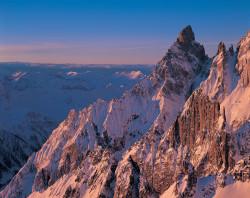Aiguille Noire de Peuterey, Mont Blanc mountain chain, Aosta Valley, Italy