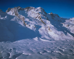 Breithorn, North face, Monte Rosa mountain chain, Switzerland