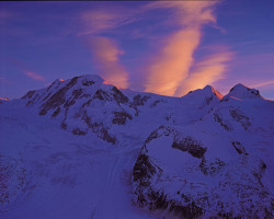 Lyskamm, Castore and Polluce, Monte Rosa mountain chain, Switzerland