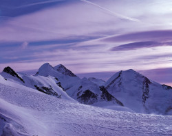 Lyskamm, Castore and Polluce, Monte Rosa mountain chain, Italy