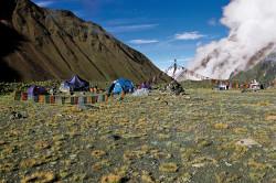 Il campo base della parete Nord dell'Annapurna I, Nepal