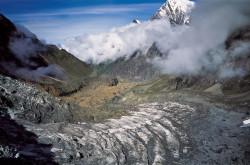 La Miristi Khola e il Ghiacciaio Annapurna Settentrionale, Nepal