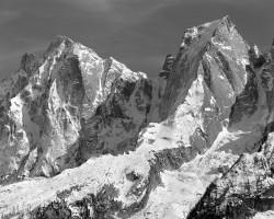 Pizzo Badile e Pizzo Cengalo al Tramonto, Val Bregaglia, Svizzera INFO