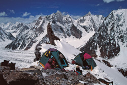 Il Campo I del Broad Peak a 5.900 metri di quota, Pakistan
