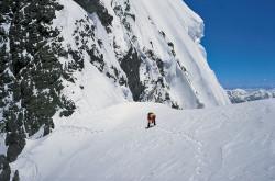 Christian Kuntner on the Broad Peak Col (7.800 m), Pakistan