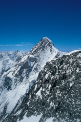 K2 (8.611 m) from Broad Peak (8.047 m), Pakistan