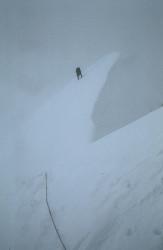 Krzysztof Wielicki climbing the Polish Pilier on Cho Oyu (8.201 m), Tibet