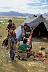Pastori tibetani nella regione dell'Everest, Tibet