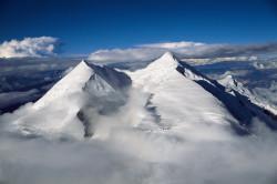 Tukuche Peak (6.920 m) from Dhaulagiri (8.167 m), Nepal