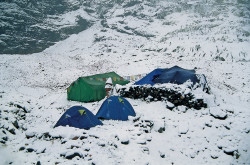Il campo base del Dhaulagiri, Nepal