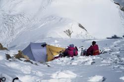 Camp III (7.200 m) on the North-East Ridge of Dhaulagiri (8.167 m), Nepal