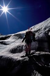 Durante la scalata del Dhaulagiri (8.167 m), Nepal