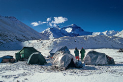 Il versante tibetano dell'Everest (8.848 m)