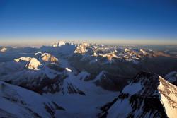 Veduta dall'Everest del Cho Oyu e dello Shisha Pangma