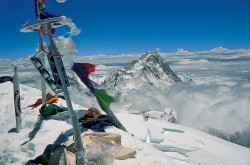 Makalu (8.463 m) from the summit of Everest (8.848 m), Nepal