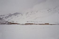 Villaggio tibetano lungo l'avvicinamento all'Everest