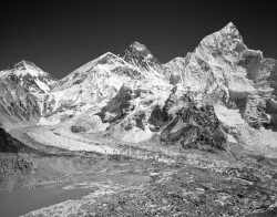 Everest, Panorama, Himalaya, Nepal INFO