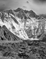 Lhotse, Parete Sud e Ghiacciaio del Lhotse, Himalaya, Nepal INFO