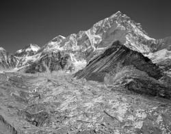 Nuptse, Changtse e Ghiacciaio del Khumbu, Himalaya, Nepal INFO