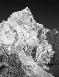 Nuptse, Parete Ovest al Tramonto, Himalaya, Nepal INFO