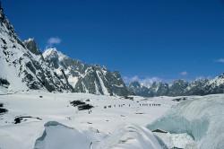 Porters on Baltoro Glacier near Concordia, Pakistan