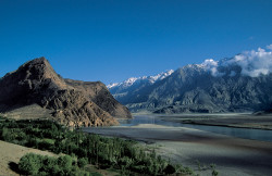 Skardu Valley and Indus River, Pakistan
