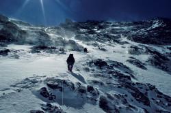 Climbers on the North Ridge of K2 (8.611 m), China