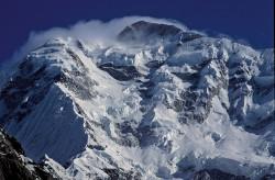 Il Rakaposhi (7.788 m) visto dalla valle dell'Hunza, Pakistan