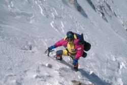 Christian Kuntner climbing the North Ridge of K2 (8.611 m), China