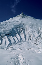 The Manaslu North-East Face and the East Summit (7.992 m), Nepal