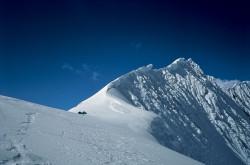 Il Campo II a 6.600 metri di quota sul Colle Nord del Manaslu, Nepal