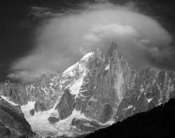 Petit Dru e Aiguille Verte, Tramonto, Gruppo del Monte Bianco, Francia INFO