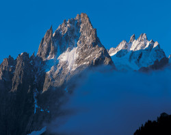 Aiguille des Grands Charmoz, Mont Blanc mountain chain, France