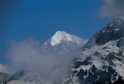 Makalu (8.463 m) as seen from Shipton-La area, Nepal