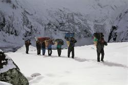 Durante l'avvicinamento al Makalu (8.463 m), Himalaya, Nepal