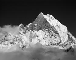 Machapuchare, Tramonto, Himalaya, Nepal INFO