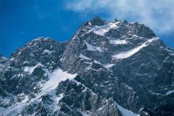 La vetta del Nanga Parbat (8.125 m), Versante Rupal, Himalaya, Pakistan