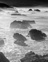 Scogli, Mattina, Costa di Big Sur, California, U.S.A. INFO