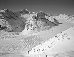 Ghiacciaio dell'Aletsch, Inverno, Svizzera INFO