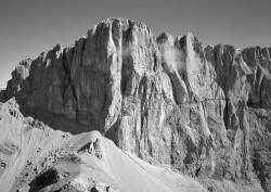 Marmolada, Versante Meridionale, Orizzontale, Dolomiti, Italia INFO