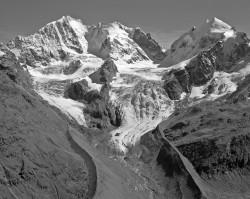 Pizzo Bernina, Piz Scerscen e Piz Roseg, Svizzera INFO