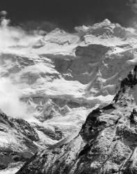 Kangchenjunga, Parete Nord con Nuvole, Himalaya, Nepal INFO