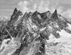 Grandes Jorasses-Dente del Gigante dall'Aiguille du Midi, Francia INFO