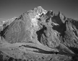 Monte Bianco, Versante Meridionale, Mattina, Italia INFO